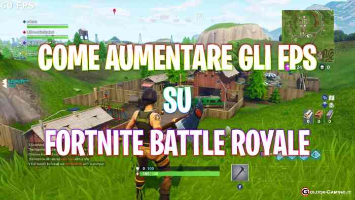 come aumentare fps fortnite