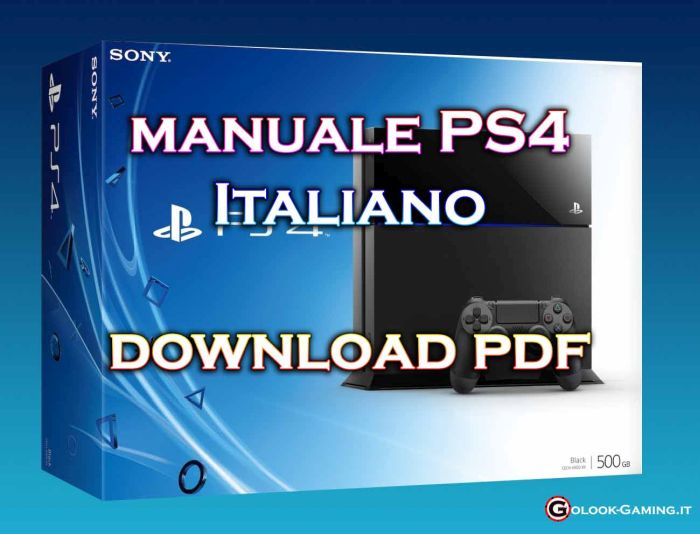 manuale ps4 italiano pdf