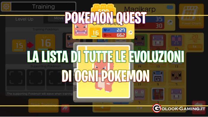 pokemon quest evoluzioni