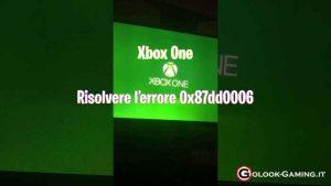 xbox one problema 0x87dd0006