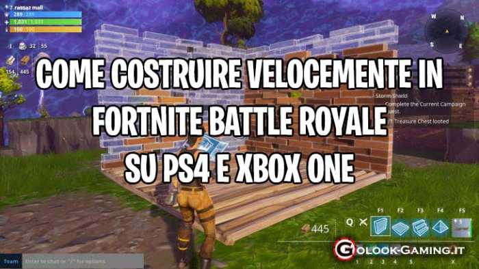 costruire velocemente fortnite ps4, costruire velocemente fortnite xbox one