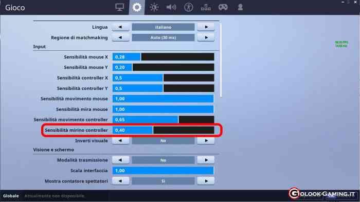 migliorare la mira in fortnite con il controller