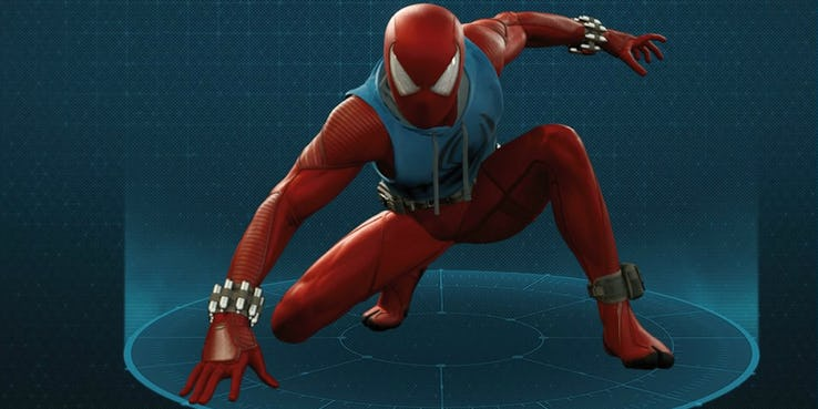 Scarlet Spider Suit