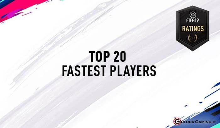 fifa 19 ultimate team giocatori più veloci