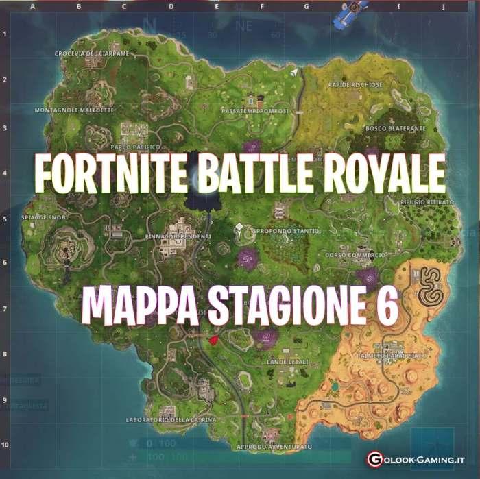 fortnite stagione 6 mappa