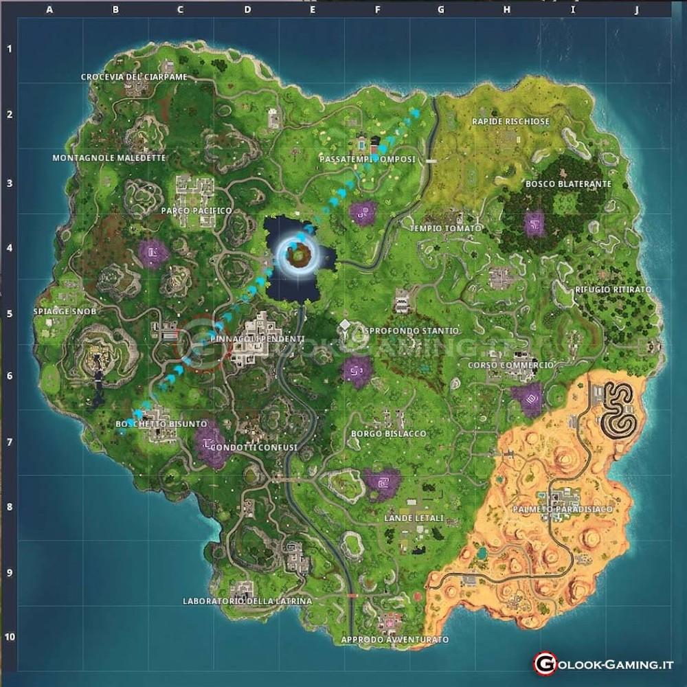 mappa fortnite stagione 6 completa