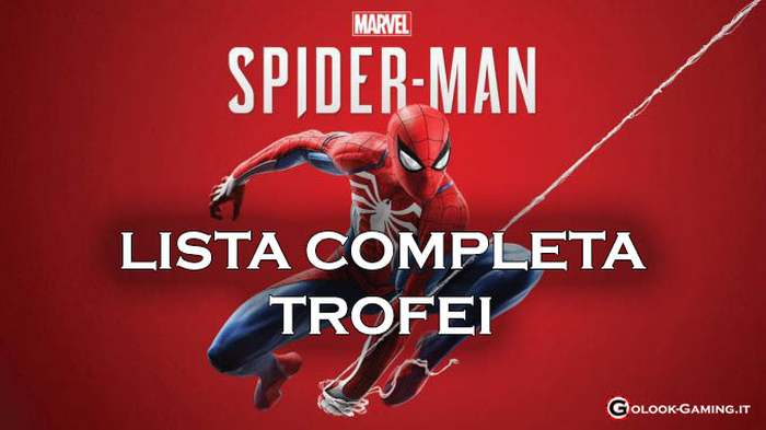 lista trofei spiderman ps4