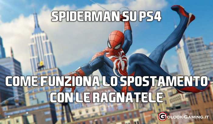 spiderman ps4 spostamento ragnatele