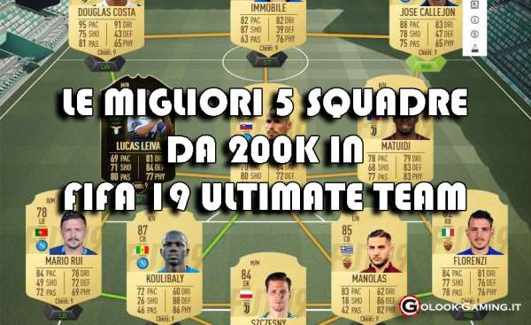 squadre 200k fifa 19 ultimate team