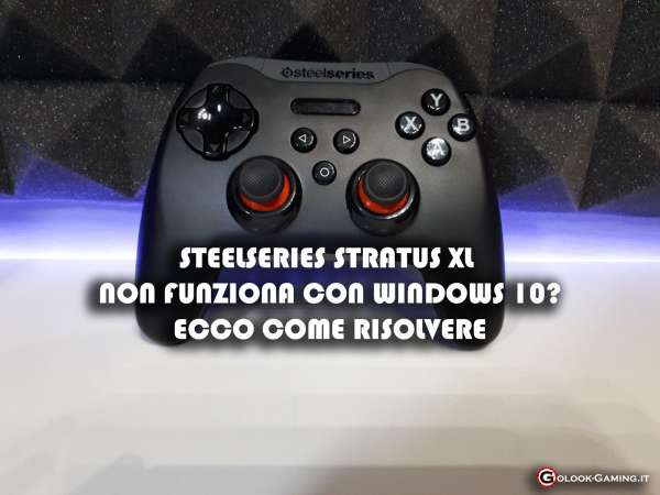 steelseries stratus xl non funziona con windows 10