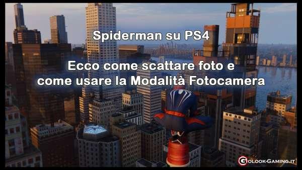 Spiderman PS4 come scattare foto
