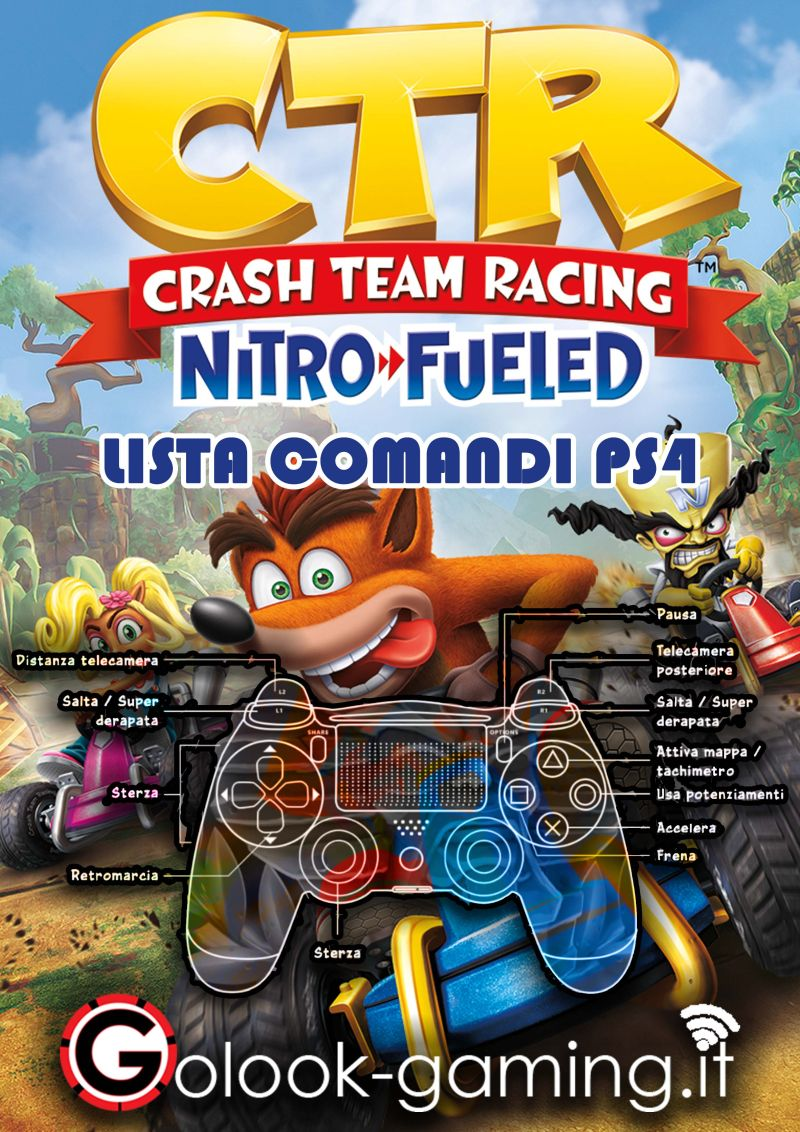 CTR Crash Team Racing Comandi PS4
