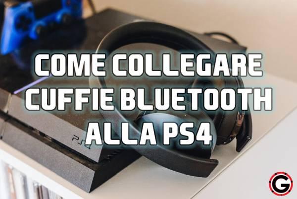 collegare cuffie bluetooth ps4